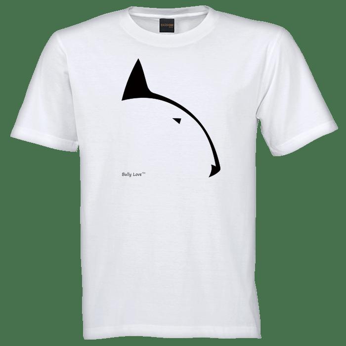 bully love logo on white t-shirt