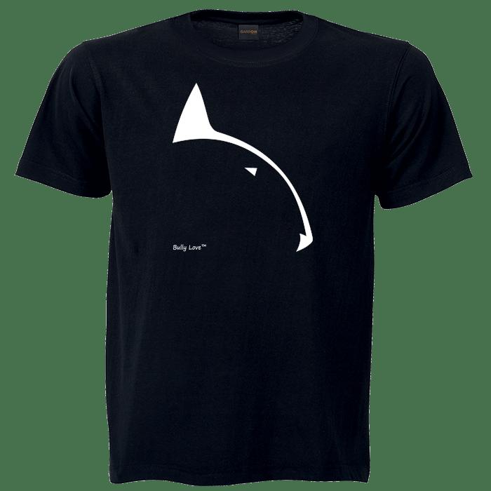 Bully Love Logo bull terrier branded black t-shirt